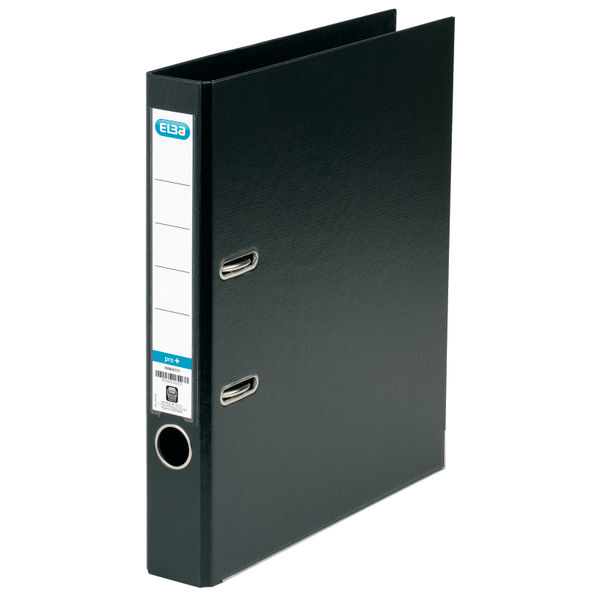 Elba PVC Black A4 Lever Arch File 50mm - 145110