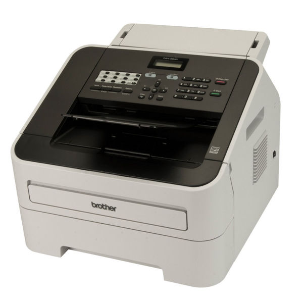 Brother FAX-2840 High-Speed Laser Fax Machine White FAX2840ZU1