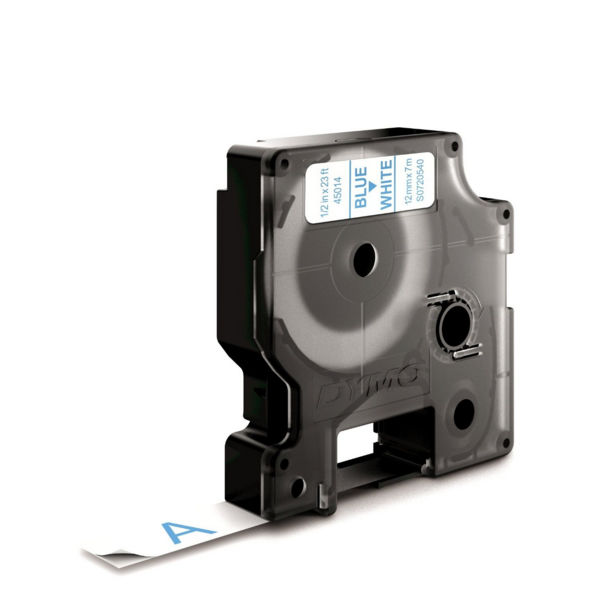 Dymo D1 Standard Label Tape Blue on White - S0720540