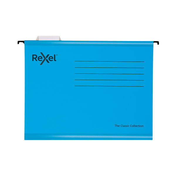 Rexel Blue A4 Classic Suspension Files, Pack of 25 - 2115587