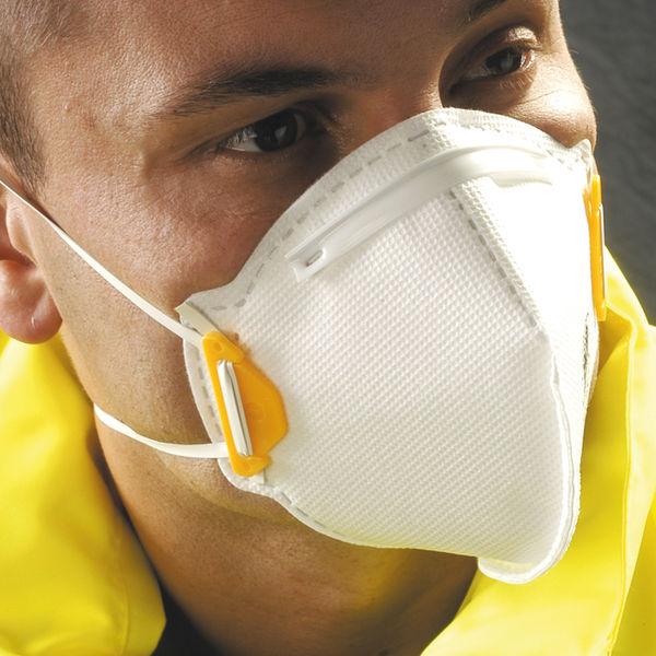 JSP FFP2 Face Mask Non-Valve White (Pack of 20) BEA120-101-B00