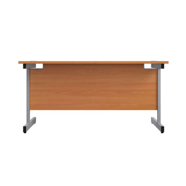 Jemini 1200x600mm Beech/Silver Single Rectangular Desk