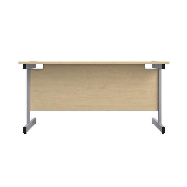 Jemini 1200x600mm Maple/Silver Single Rectangular Desk