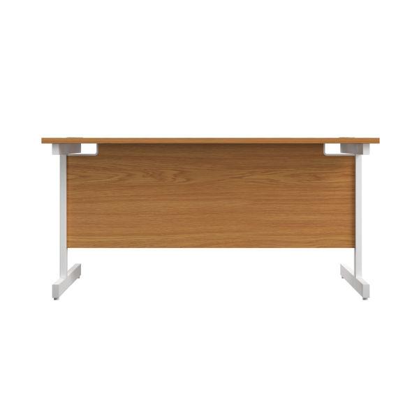 Jemini 1200x600mm Nova Oak/White Single Rectangular Desk