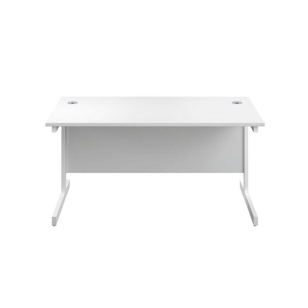Jemini 1200x600mm White/White Single Rectangular Desk
