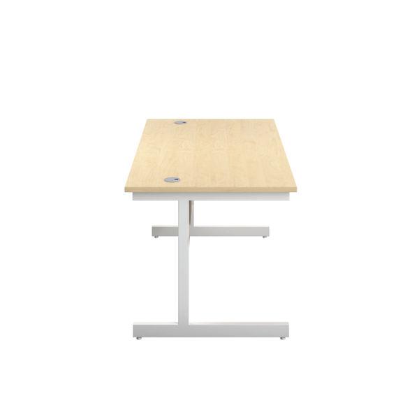 Jemini 1200x600mm Maple/White Single Rectangular Desk