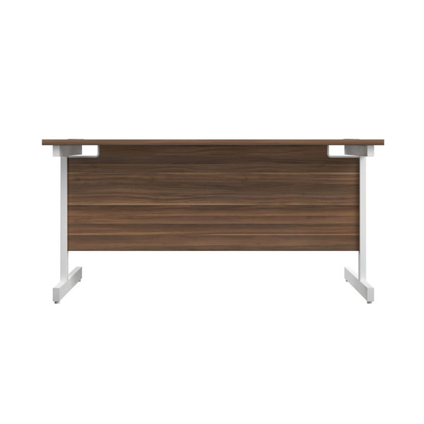 Jemini 1200x600mm Dark Walnut/White Single Rectangular Desk