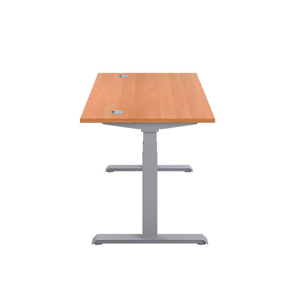 Jemini 1200mm Beech/Silver Sit Stand Desk