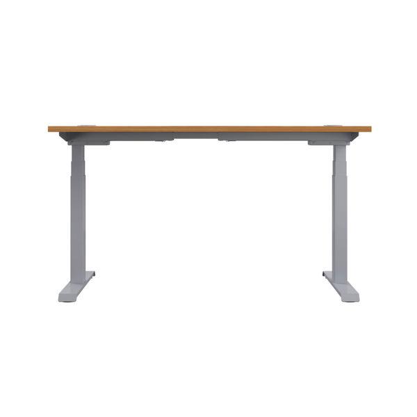 Jemini 1200mm Nova Oak/Silver Sit Stand Desk