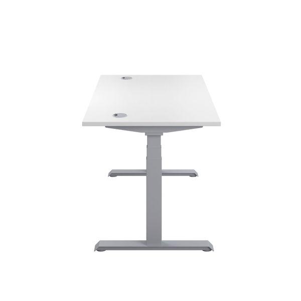 Jemini 1200mm White/Silver Sit Stand Desk