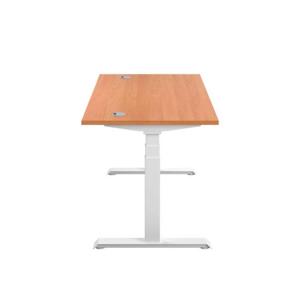 Jemini 1200mm Beech/White Sit Stand Desk