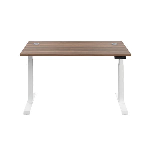 Jemini 1200mm Dark Walnut/White Sit Stand Desk