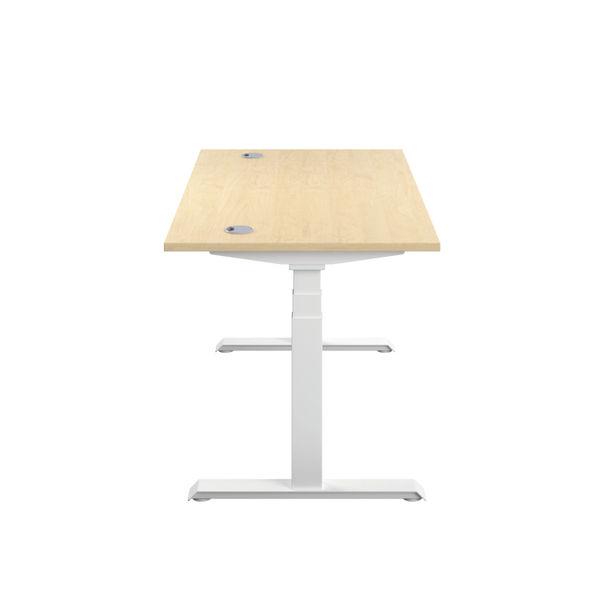 Jemini 1200mm Maple/White Sit Stand Desk