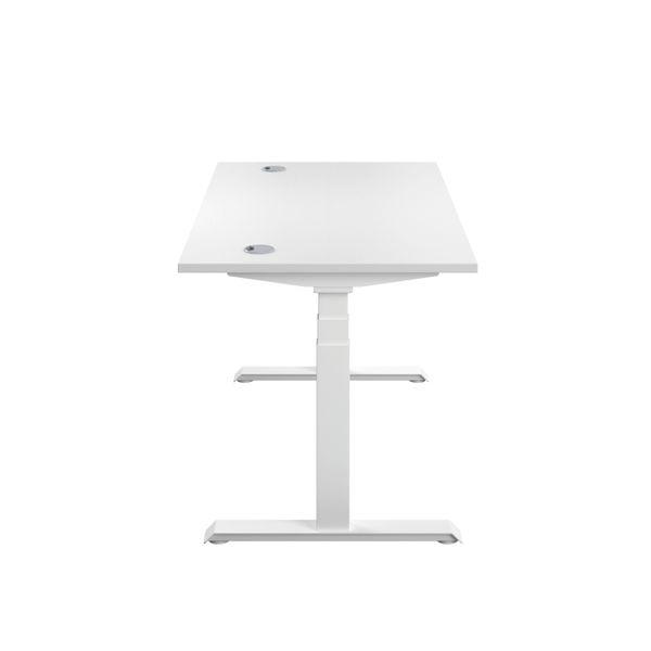 Jemini 1200mm White/White Sit Stand Desk