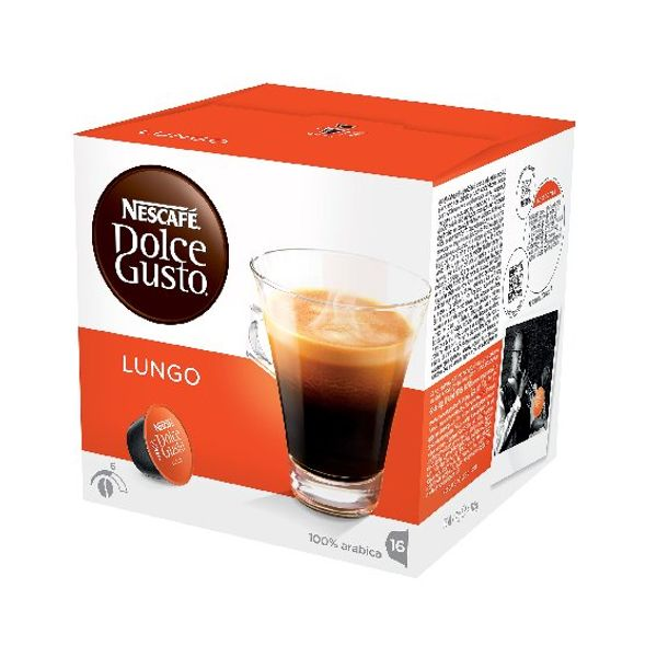 Nescafe Dolce Gusto Cafe Lungo Capsules, Pack of 48 - 12019900