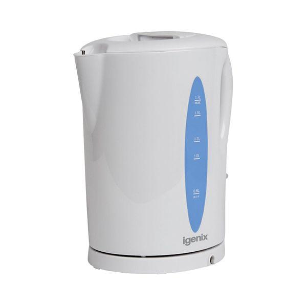 White 1.7 Litre 2200W Cordless Jug Kettle (Removable limescale filter)