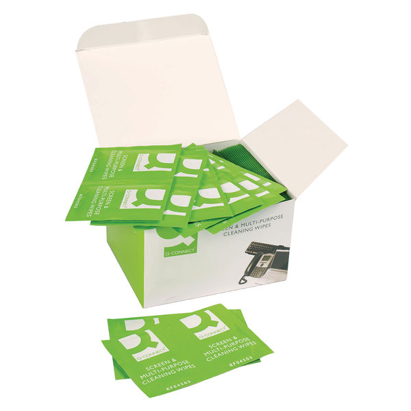 Q-Connect Screen and Multi-Purpose Wipes, Pack of 100   KF04503