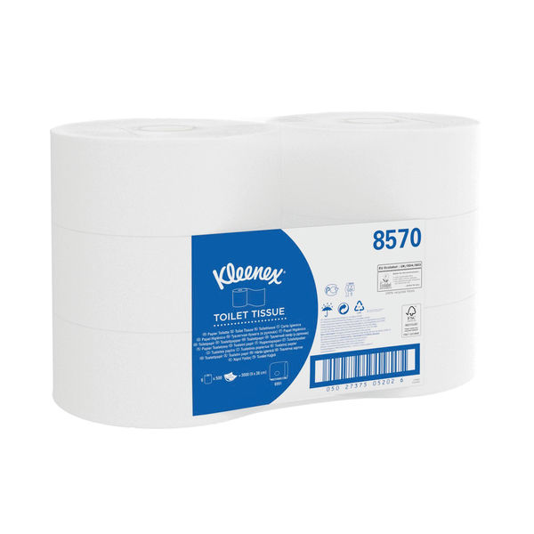 Kleenex Jumbo Toilet Tissues, Pack of 6 - 8570