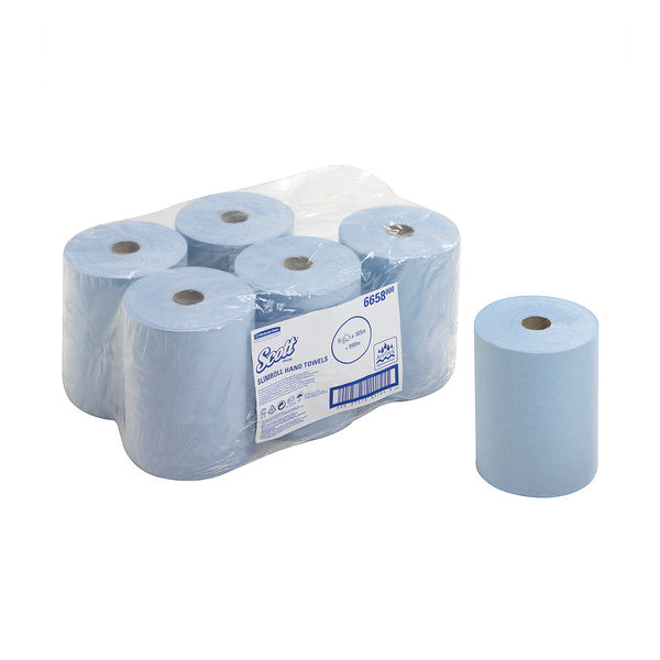 Scott Slimroll Hand Towel Roll Blue 165m (Pack of 6) 6658