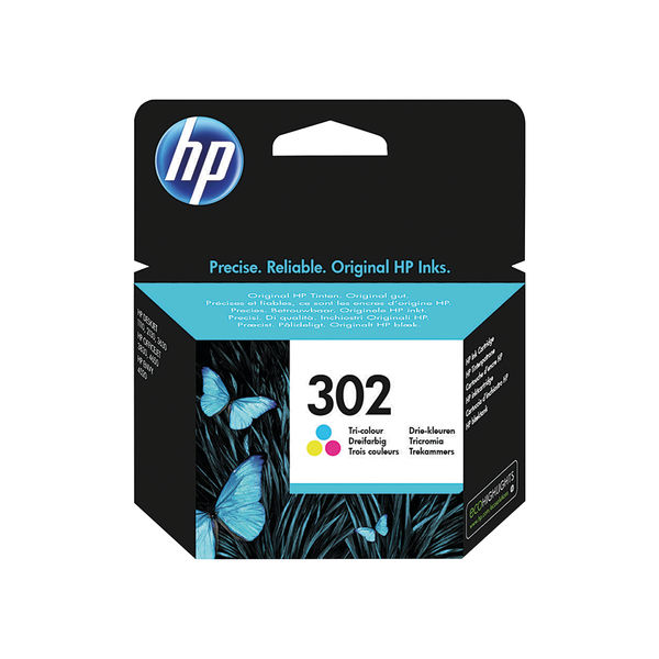 HP 302 Tri-Colour Ink Cartridge | F6U65AE