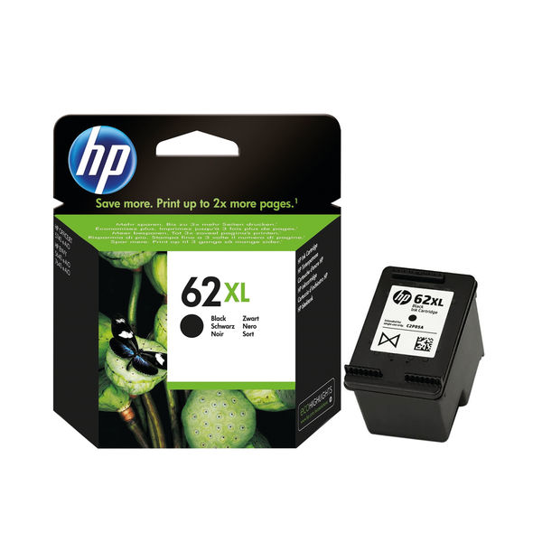 HP 62XL High Capacity Black Ink Cartridge - C2P05AE