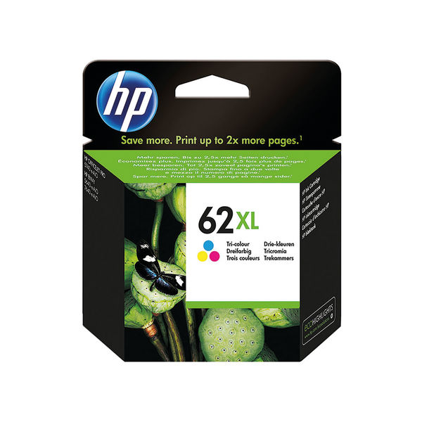 HP 62XL Tri-Colour Ink Cartridge High Capacity C2P07AE