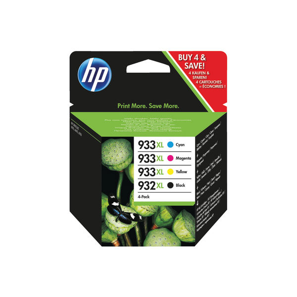 HP 932XL and 933XL Black and Colour Combo Ink Cartridge 4 Pack | C2P42AE