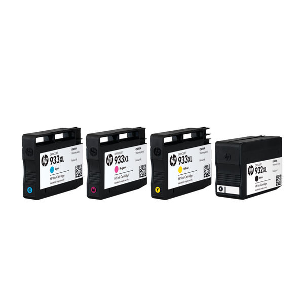 HP 932XL/933XL High Capacity CYMK Ink Cartridge Multipack - C2P42AE
