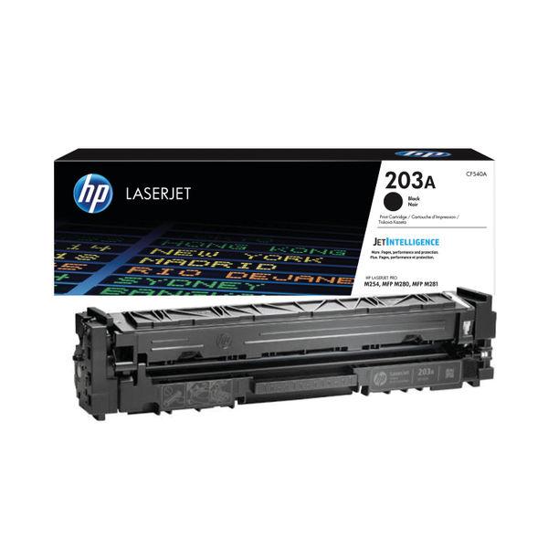 HP 203A Black LaserJet Toner Cartridge CF540A