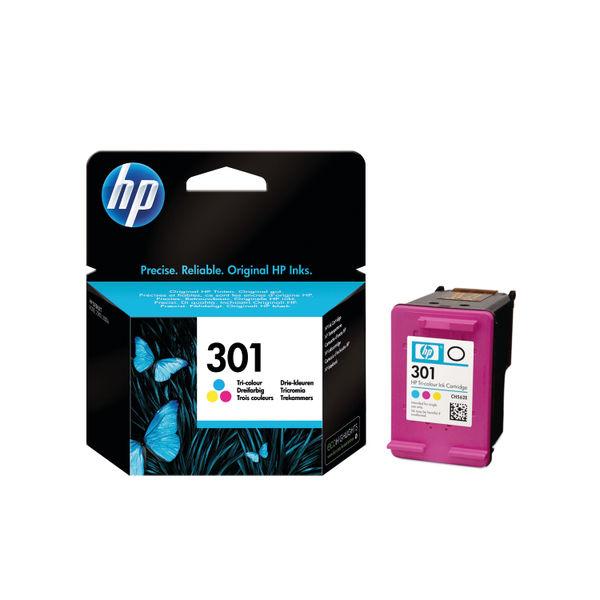 HP 301 Cyan/Magenta/Yellow Ink Cartridge CH562EE