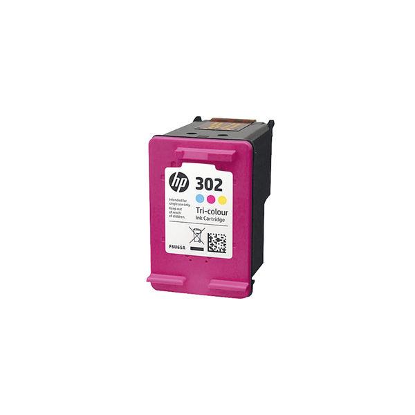 HP 302 Cyan/Magenta/Yellow Ink Cartridge (Capacity 165 pages) F6U65AE
