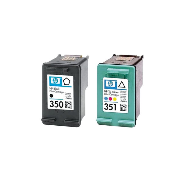 HP 350 / 351 Black and Tri-Colour Ink Cartridge Pack - SD412EE