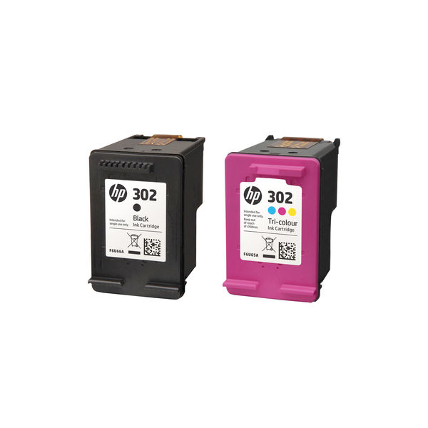 HP 302 Black and Tri-Colour Standard Yield Ink Combo Pack | X4D37AE