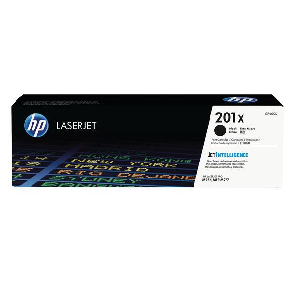HP 201X High Capacity Black Laserjet Toner Cartridge | CF400X