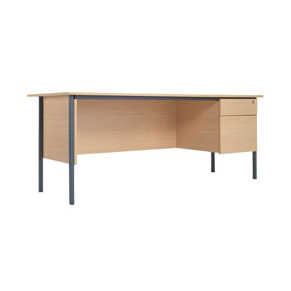 Serrion 1800mm Ferrera Oak 2 Drawer Pedestal 4 Leg Desk