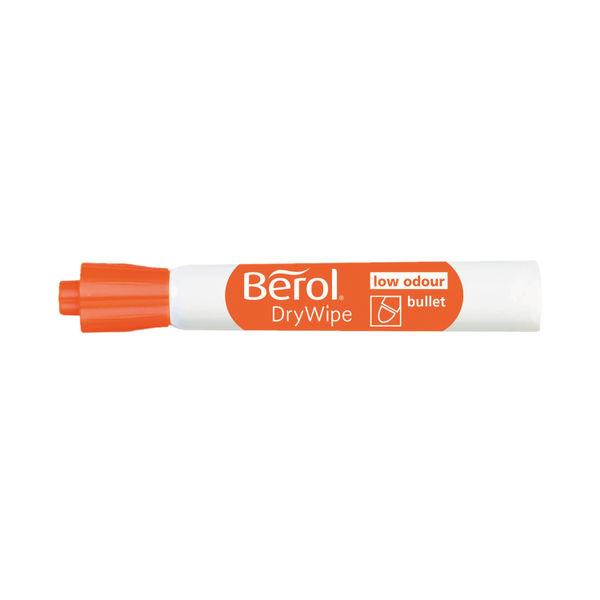 Berol Drywipe Marker Bullet Tip Black (Pack of 12) 1984866