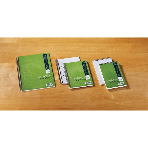 Cambridge A5 Recycled Wirebound Notebooks, Pack of 5 - 400020509