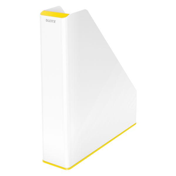 Leitz WOW White and Yellow Dual Colour Magazine File- 53621016