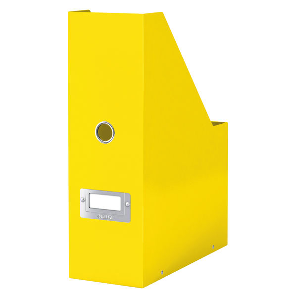 Leitz WOW Click and Store Magazine File Yellow 60470016