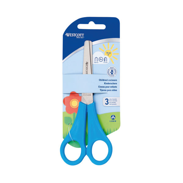 Westcott Childrens Scissors 127mm With cm Scale Blue E-21592 00
