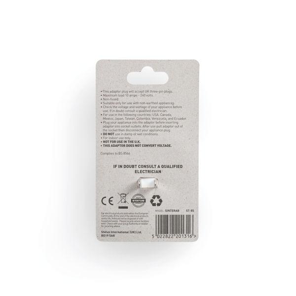 Status Intercontinental Travel Adaptor (Pack of 12) SINTERAB12