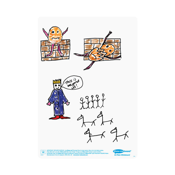 Show-me Whiteboard A4 Plain (Pack of 35) C/SMB
