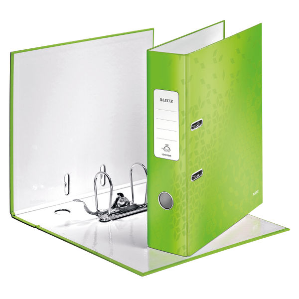 Leitz WOW Green A4 180 Lever Arch Files, Pack of 10 - 10050054