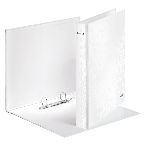Leitz WOW White A4 25mm 2 D-Ring Binders, Pack of 10 - 42410001