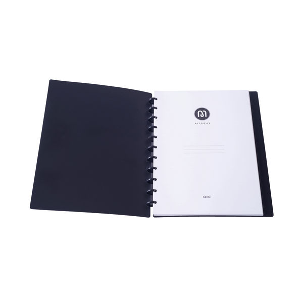 M By Staples ARC Notebook PP Cover Lined 60 Sheets A4 Black 8851100