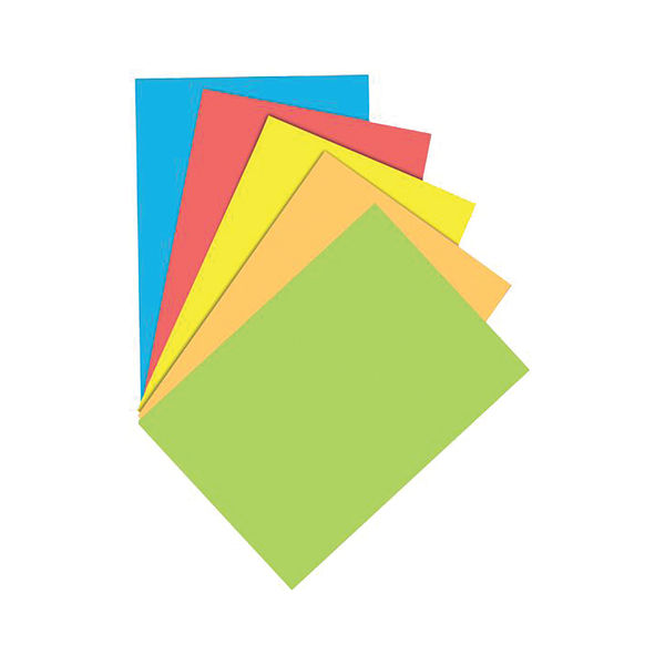 Staples Colour A4 Assorted Paper 160gsm (Pack of 100) 7355406
