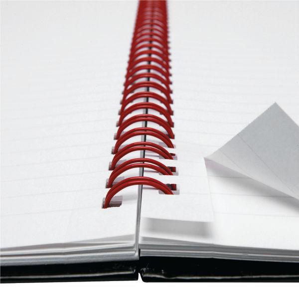 Black n' Red A4 Wirebound Hardback Notebooks, Pack of 5 - 84354905