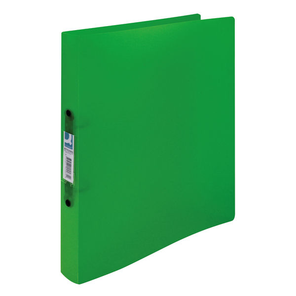 Q-Connect Assorted Frosted A4 2 O-Ring Binders, Pack of 12 - KF02488