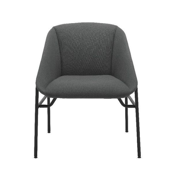 Jemini Bistro Grey Reception Armchair
