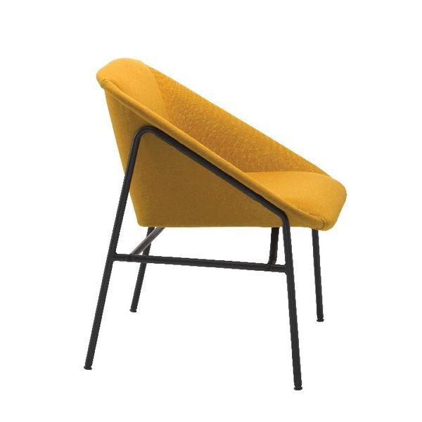 Jemini Bistro Mustard Reception Armchair